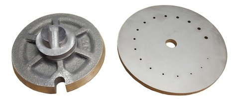 (Left) Selector Disc, (Right) Orifice Plate