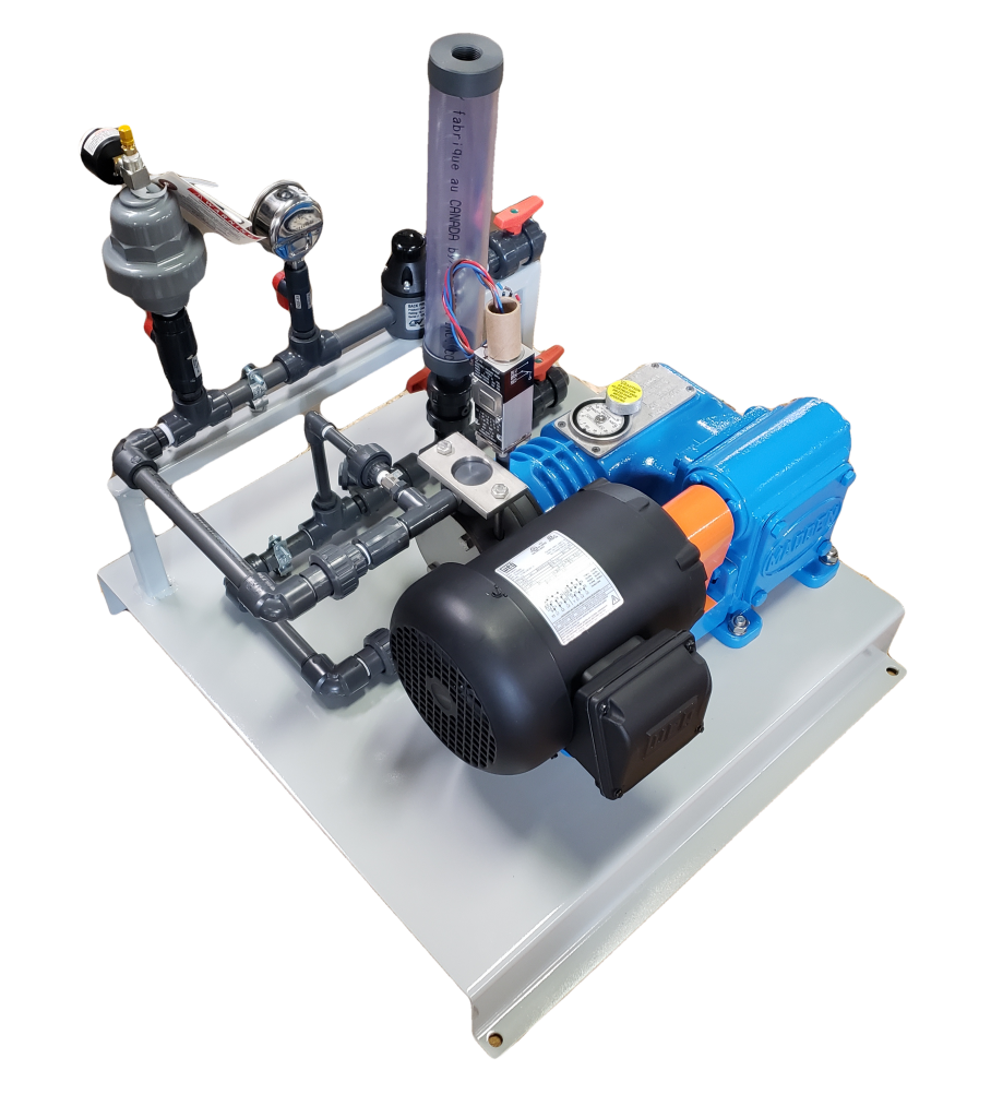 Chemical metering system package